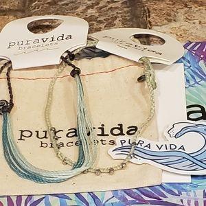 Pura Vida Anklet and Original